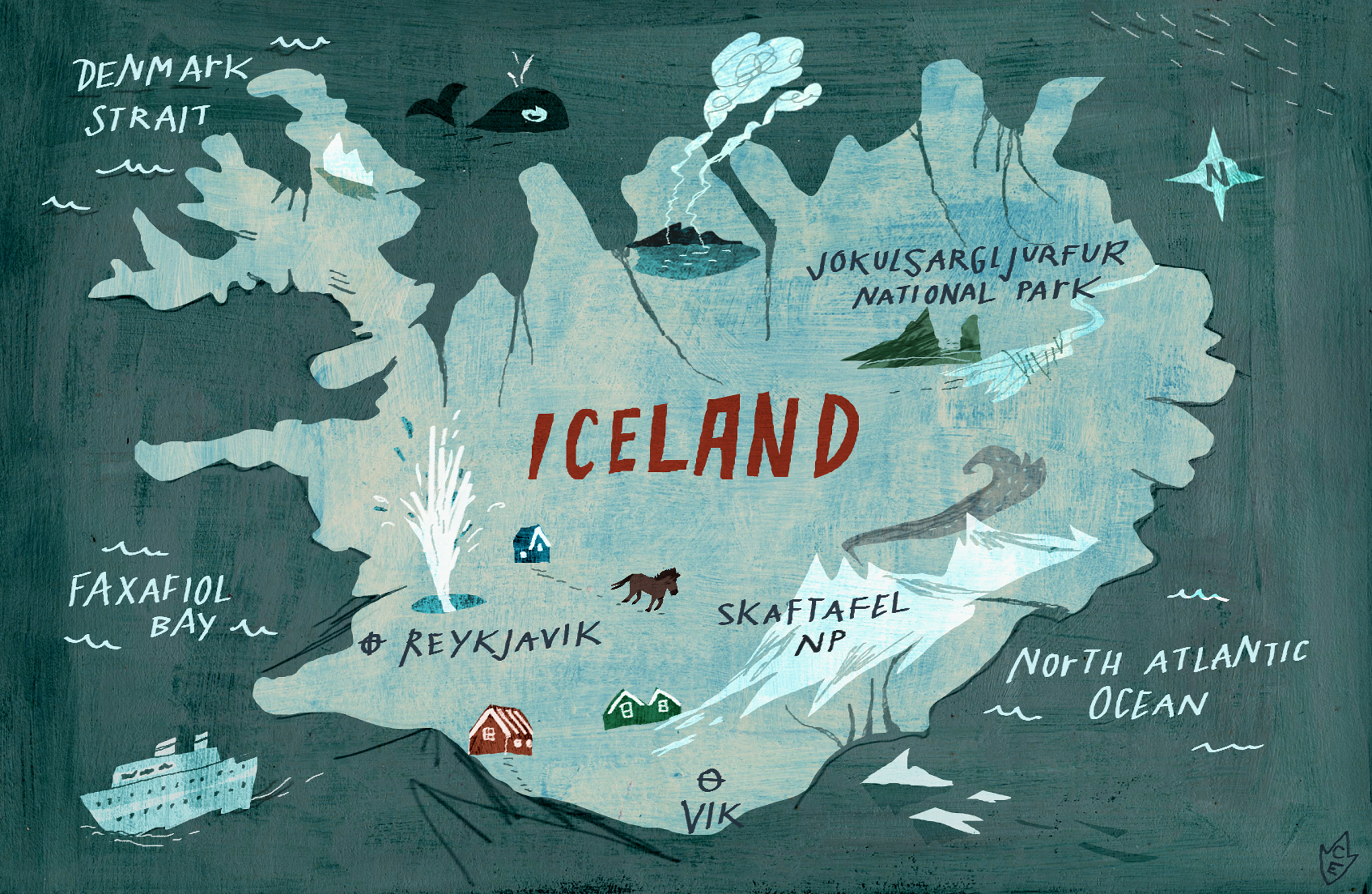 Iceland Map With Sights – Iceland Tourist Attractions Map